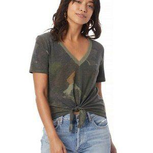 NEW Alternative Eco-Jersey Camo V-Neck T-shirt SM